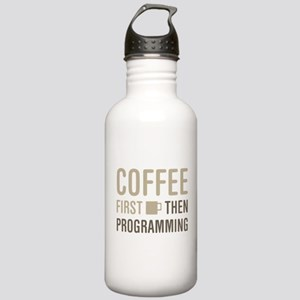 Coffee Then Programmin Stainless Water Bottle 1.0L
