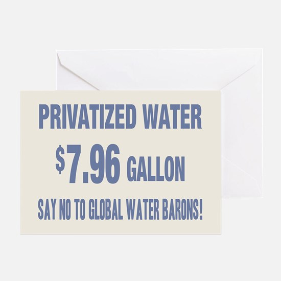 No Global Water Barons! Greeting Card