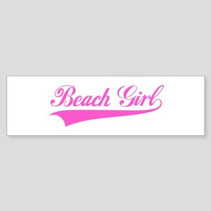 Beach girl Bumper Sticker