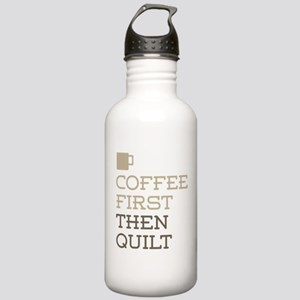 Coffee Then Quilt Stainless Water Bottle 1.0L
