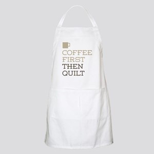 Coffee Then Quilt Apron
