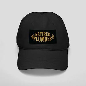 Retired Plumber Black Cap
