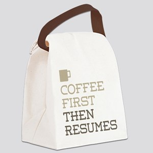 Coffee Then Resumes Canvas Lunch Bag