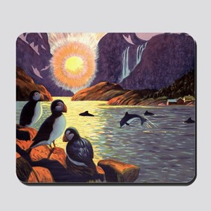 Vintage Travel Poster Norway Mousepad