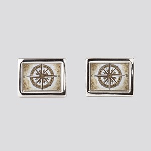 Spirit Compass Rectangular Cufflinks