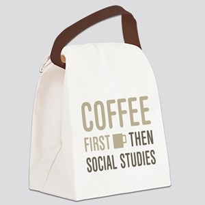 Coffee Then Social Studies Canvas Lunch Bag