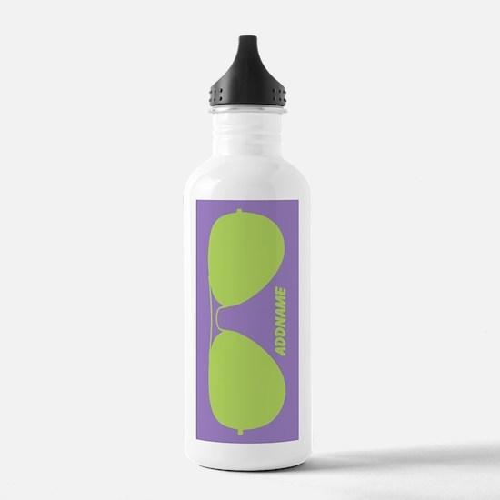 Green Violet Funky Sun Water Bottle