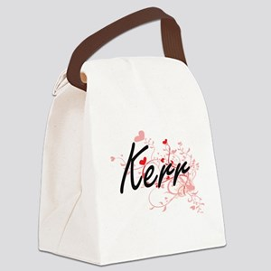Kerr Artistic Design with Hearts Canvas Lunch Bag