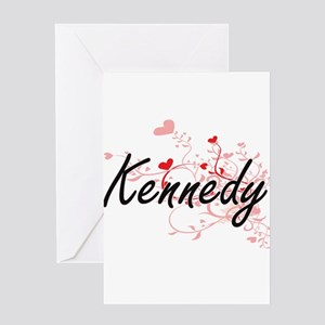 Kennedy Artistic Design with Hearts Greeting Cards