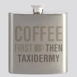 Coffee Then Taxidermy Flask