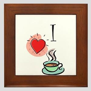 I Love Coffee Framed Tile