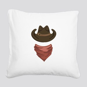 Cowboy Square Canvas Pillow