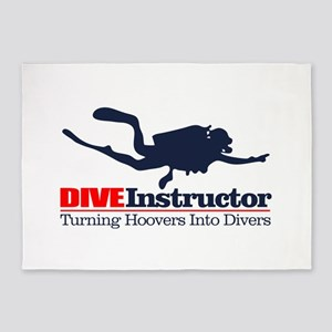 Dive Instructor 5'x7'Area Rug