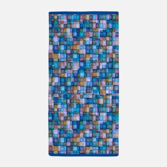 Watercolor Mosaic Tiles LAVENDER and BLUE Beach To