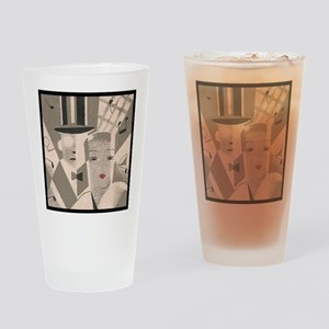 Vintage Art Deco Couple Drinking Glass