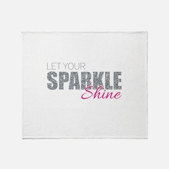 Let Your Sparkle Shine Throw Blanket