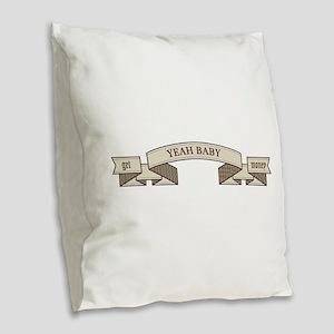 get money Burlap Throw Pillow