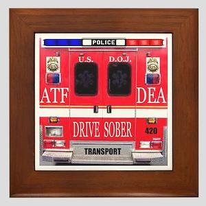 Emergency Services Vehicle Framed Tile