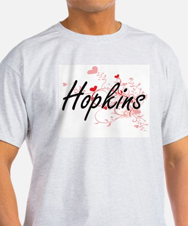 Hopkins Artistic Design with Hearts T-Shirt