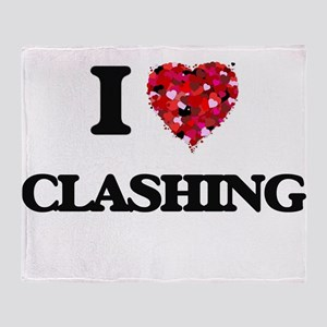 I love Clashing Throw Blanket