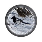 Black Billed Rocky Mountain Magpie Wall Clock