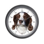 Brown & White Dog Wall Clock