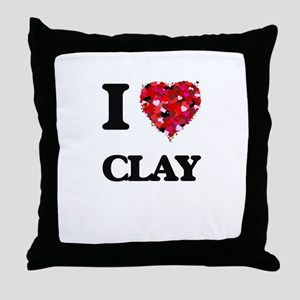 I love Clay Throw Pillow