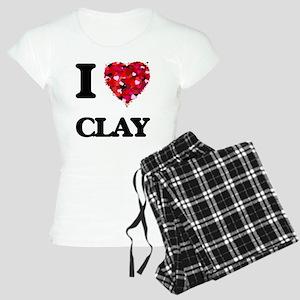 I love Clay Women's Light Pajamas