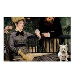 Westy in Manet's painting Postcards (Package of 8)