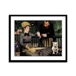 Westy In Manet's Painting Framed Panel Print
