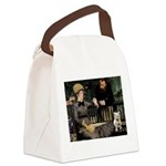 Westy in Manet's painting Canvas Lunch Bag