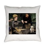 Westy in Manet's painting Everyday Pillow