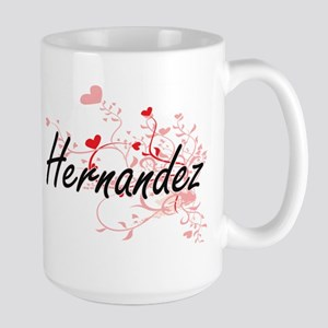 Hernandez Artistic Design with Hearts Mugs
