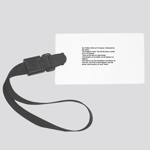 the Lord's Prayver Large Luggage Tag