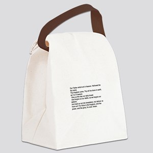 the Lord's Prayver Canvas Lunch Bag