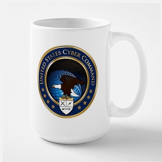 US Cyber Command Emblem Large Mug