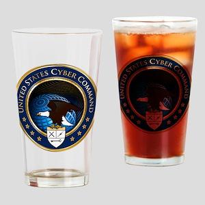 US Cyber Command Emblem Drinking Glass