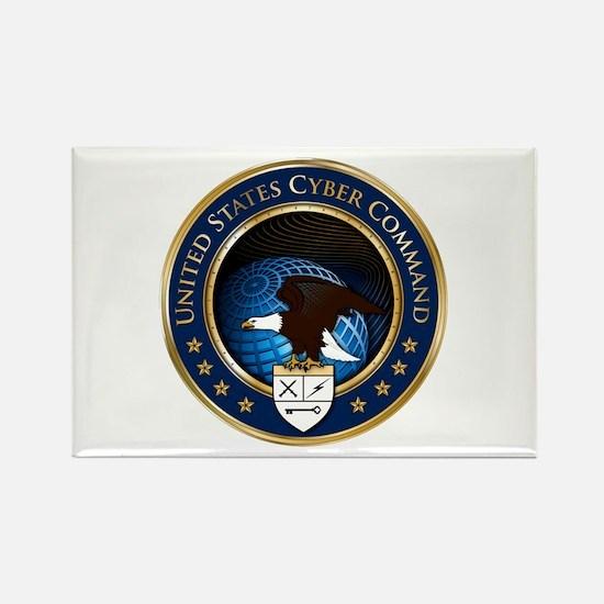 US Cyber Command Emblem Rectangle Magnet
