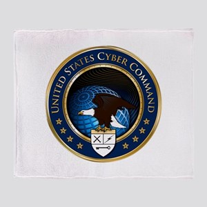 US Cyber Command Emblem Throw Blanket