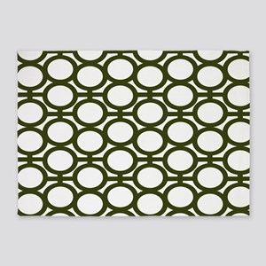 Mossy Green Bubble Eyelets 5'x7'Area Rug