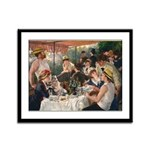 Cat In Renoir's Painting Framed Panel Print