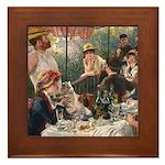 Cat in Renoir's painting Framed Tile