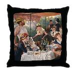 Cat in Renoir's painting Throw Pillow