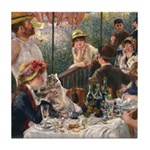 Cat in Renoir's painting Tile Coaster