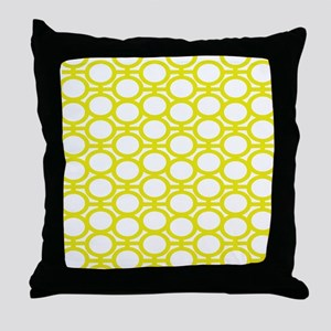 Lemon Yellow Eyelets Throw Pillow