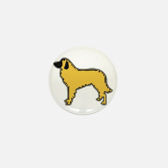 estrela mountain dog color silhouette Mini Button