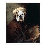 Rembrandt bulldog autoportrait Small Poster