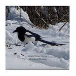 Black Billed Rocky Mountain Magpie Tile Coaster