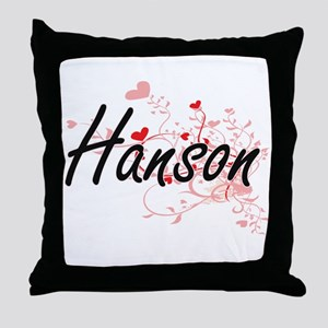 Hanson Artistic Design with Hearts Throw Pillow