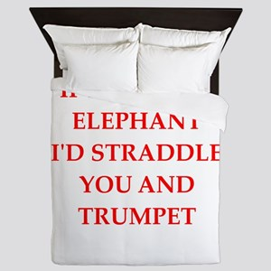 flirting joke on gifts and t-shirts. Queen Duvet